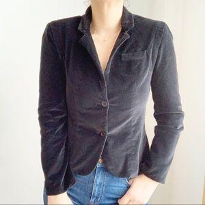 Vintage Velvet Cropped Black Blazer Canada Size S